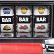 Slot machine and jackpot three bars — Stock Photo #14001124