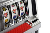 Slot machine and jackpot three seven — Stock Photo