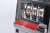 Slot machine and jackpot three seven — Stok fotoğraf