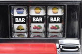 Slot machine and jackpot three bars — Stock Photo
