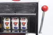 Slot machine and jackpot three seven — Stock Photo