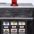Stock Photo: Slot machine and jackpot three bars