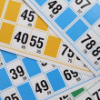 Bingo cards and numbers — Stock Photo