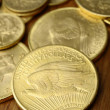 Gold american coins - Stock Photo