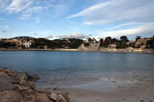 Beach of Renecro in Bandol in french riviera, France — Stock Photo