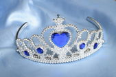 False tiara with diamonds and blue gem — Stock Photo