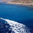 Turquoise blue water of cyclades — Stock Photo