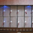 Lockers with numbers — Stock Photo