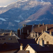 Chambery roofs and Nivolet mountain in Savoy, France — Stock Photo
