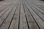 Grooved wooden planks — Stock Photo