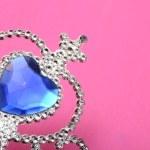 Toy tiara with blue gem — Stock Photo #43033341