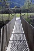 Puente colgante de madera — Foto de Stock