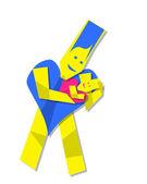 Serce człowieka znaków i dziecko — Zdjęcie stockowe