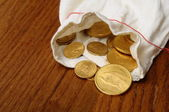 Some gold coins — Stock Photo