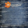 Denim scrapbook background for planing — Stock Photo #12180350