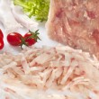 Meat of pork on white,the nerves — Stock Photo