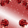 Red bows on on a red background whith white star — Stock Photo #13813444