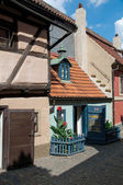 View of Prague small houses Zlata ulicka — Stock Photo
