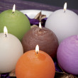 Still life of home lighting candles or catalyst lamp — Stock Photo