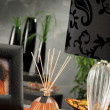 Stock Photo: Still life of home lighting candles or catalyst lamp