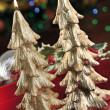 Christmas baubles, candles and other on background of defocused — Stock Photo