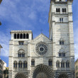 The romanic Cathedral of Genoa, Italy — Stockfoto
