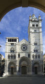 The romanic Cathedral of Genoa, Italy — Stock Photo