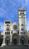 The romanic Cathedral of Genoa, Italy — Stock fotografie