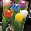 Stock Photo: Still life of home lighting candles like tulips