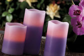 Electric candles looks like normal candles — Stock Photo