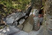 A mine of slate near Genoa, tipical ligurian stone — Stock Photo