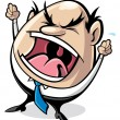 Stock Vector: Angry boss