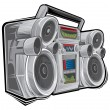Stock Vector: Radio