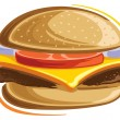 Stock Vector: Cheeseburger