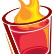 Shot glass — Vector de stock #20593275
