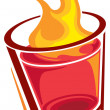 Shot glass - Stock Vector