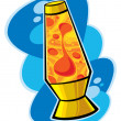 Lava lamp — Stock Vector