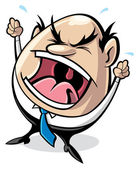 Angry boss — Stock Vector