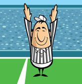 Football referee — Stock Vector