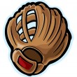 Stock Vector: Baseball glove