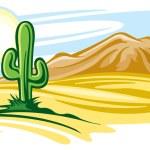 Desert landscape — Stock Vector #20877355