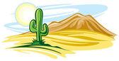 Desert landscape — Stock Vector