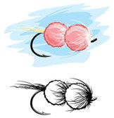Fishing lure — Stock Vector