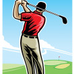Golfing — Stock Vector