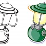 Lantern — Stock Vector