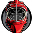 Stock Vector: Hockey goalie mask