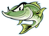 Largemouth Bass — Stock Vector