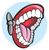 Mouth open — Stock Vector