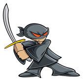 Ninja warrior — Stock Vector