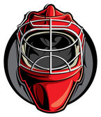 Hockey goalie mask — Stock Vector